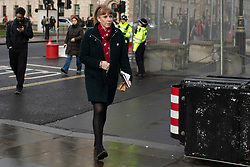 © Licensed to London News Pictures. 07/01/2020. London, UK. Shadow education secretary and Labour Party deputy leadership candidate Angela Rayner arrives at the Houses of Parliament. Photo credit: George Cracknell Wright/LNP