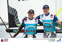 The Volvo 49erFX Nacra17 European Championship. Portland. Weymouth. UK.Handout image. Credit : Lloyd Images