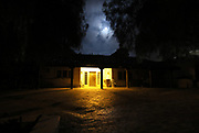 October 14, 2016_Vista, California_USA_  Night view of the main entrance of the guest house on the property of the Rancho Buena Vista Adobe.  _Mandatory Photo Credit: Photo by Charlie Neuman ©2016 San Diego Union-Tribune, LLC