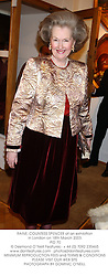 RAINE, COUNTESS SPENCER at an exhibition in London on 18th March 2003.<br />PID 70
