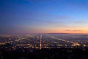 Los Angeles city lights, California, USA