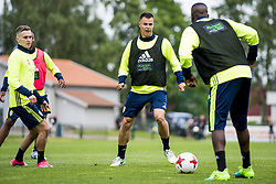 June 6, 2017 - Helsingborg, SVERIGE - 170606 Melker Hallberg under en trÅning med U21-landslaget i fotboll den 6 juni 2017 i Helsingborg  (Credit Image: © Ludvig Thunman/Bildbyran via ZUMA Wire)