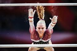 October 28, 2018 - Doha, Quatar - Emilie Winther of Denmark   during  Uneven Bars qualification at the Aspire Dome in Doha, Qatar, Artistic FIG Gymnastics World Championships on 28 of October 2018. (Credit Image: © Ulrik Pedersen/NurPhoto via ZUMA Press)