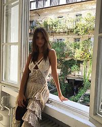 """Emily Ratajkowski releases a photo on Instagram with the following caption: """"Milano"""". Photo Credit: Instagram *** No USA Distribution *** For Editorial Use Only *** Not to be Published in Books or Photo Books ***  Please note: Fees charged by the agency are for the agency's services only, and do not, nor are they intended to, convey to the user any ownership of Copyright or License in the material. The agency does not claim any ownership including but not limited to Copyright or License in the attached material. By publishing this material you expressly agree to indemnify and to hold the agency and its directors, shareholders and employees harmless from any loss, claims, damages, demands, expenses (including legal fees), or any causes of action or allegation against the agency arising out of or connected in any way with publication of the material."""