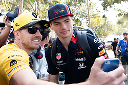 March 16, 2019 - Albert Park, VIC, U.S. - ALBERT PARK, VIC - MARCH 16: Aston Martin Red Bull Racing driver Max Verstappen arrives at The Australian Formula One Grand Prix on March 16, 2019, at The Melbourne Grand Prix Circuit in Albert Park, Australia. (Photo by Speed Media/Icon Sportswire) (Credit Image: © Steven Markham/Icon SMI via ZUMA Press)