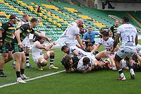 Rugby Union - 2020 / 2021 Gallagher Premiership - Round 14 - Northampton Saints vs Bristol Bears - Franklin Gardens<br /> <br /> Bristol Bears' Bryan Byrne held up short of the line.<br /> <br /> COLORSPORT/ASHLEY WESTERN