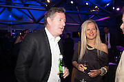 PIERS MORGAN; LULU LYON-CARTER, Preview for The London Motor Show, Battersea Evolution. London. 5 May 2016