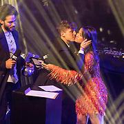 NLD/Amsterdam/20171106 - MTV Pre party 2017, Kay Nambiar, Lil Kleine kust zijn ex partner Monica Geuze