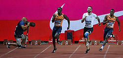 July 20, 2018 - Monaco, France - 200 metre hommes - Alonso Edward (Panama) - Ramil Guliyev (Turquie) - Noah Lyles  (Credit Image: © Panoramic via ZUMA Press)