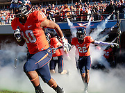 Oct. 15, 2011-Charlottesville, VA.-USA- Virginia Cavaliers running back Clifton Richardson (10) and Virginia Cavaliers cornerback Drequan Hoskey (22) take the field before the start of an ACC football game against Georgia Tech at Scott Stadium. Virginia won 24-21. (Credit Image: © Andrew Shurtleff