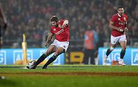 Rugby Union - 2017 British & Irish Lions Tour of New Zealand - Maori All Blacks vs. British & Irish Lions<br /> <br /> Leigh Halfpenny of The British and Irish Lions kicks a conversion at Rotorua International Stadium, Rotorua.<br /> <br /> COLORSPORT/LYNNE CAMERON