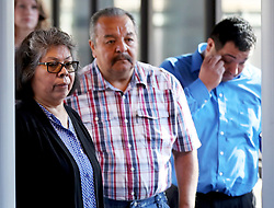 June 6, 2017 - St. Paul, MN, USA - Maria and Jesus Yanez, from left, the parents of Jeronimo Yanez, arrive for the trial of their son on Tuesday, June 6, 2017, at the Ramsey County Courthouse in St. Paul, Minn. (Credit Image: © David Joles/TNS via ZUMA Wire)