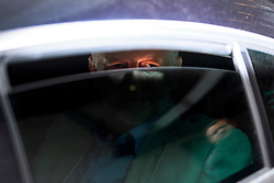 © Licensed to London News Pictures. 10/07/2016. London, UK. Labour Party Leader JEREMY CORBYN looks through the window of his car as he leaves BBC Broadcasting House in London after appearing on the Andrew Marr Show, on July 10, 2016.  Photo credit: Ben Cawthra/LNP