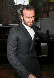 June 27, 2017 - London, London, United Kingdom - Image ©Licensed to i-Images Picture Agency. 27/06/2017. London, United Kingdom. David Beckham attends Brooklyn Beckham private view & book launch. Brooklyn Beckham, who's shot a campaign for Burberry, marks launch of his first photography book, What I See, as well as new exhibition featuring his personal photographs drawn from the book, at Christie's Mayfair, London. Picture by Nils Jorgensen / i-Images (Credit Image: © Nils Jorgensen/i-Images via ZUMA Press)