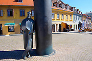 Staue of Croatian novelist, critic, editor, poet, and dramatist August ?enoa by sculptor Marija Ujevic. Vla?ka, Zagreb, Croatia .<br /> <br /> Visit our CROATIA HISTORIC SITES PHOTO COLLECTIONS for more photos to download or buy as wall art prints https://funkystock.photoshelter.com/gallery-collection/Pictures-Images-of-Croatia-Photos-of-Croatian-Historic-Landmark-Sites/C0000cY_V8uDo_ls