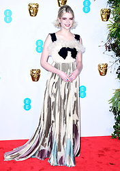 Lucy Boynton attending the 72nd British Academy Film Awards held at the Royal Albert Hall, Kensington Gore, Kensington, London.