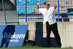 Head coach of Rudar  Marijan Pusnik  at 6th Round of PrvaLiga Telekom Slovenije between NK Primorje Ajdovscina vs NK Rudar Velenje, on August 24, 2008, in Town stadium in Ajdovscina. Primorje won the match 3:1. (Photo by Vid Ponikvar / Sportal Images)