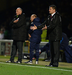 Bristol City manager, Steve Cotterill gives his players directions. - Photo mandatory by-line: Alex James/JMP - Mobile: 07966 386802 - 10/03/2015 - SPORT - Football - Yeovil - Huish Park - Yeovil Town v Bristol City - Sky Bet League One