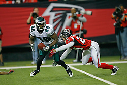 Philadelphia Eagles wide receiver Reggie Brown #86 carries the ball during the NFL game between the Philadelphia Eagles and the Atlanta Falcons on December 6th 2009. The Eagles won 34-7 at The Georgia Dome in Atlanta, Georgia. (Photo By Brian Garfinkel)