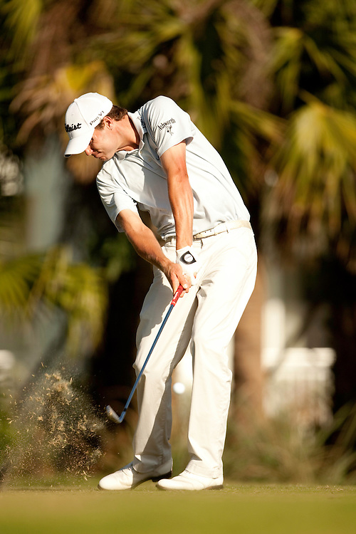 DORAL, FL - MARCH 15:  Nick Watney hits his shot during the fourth round of the 2009 WGC-CA Championship at Doral Golf Resort and Spa in Doral, Florida on Sunday, March 15, 2009. (Photograph by Darren Carroll) *** Local Caption *** Nick Watney