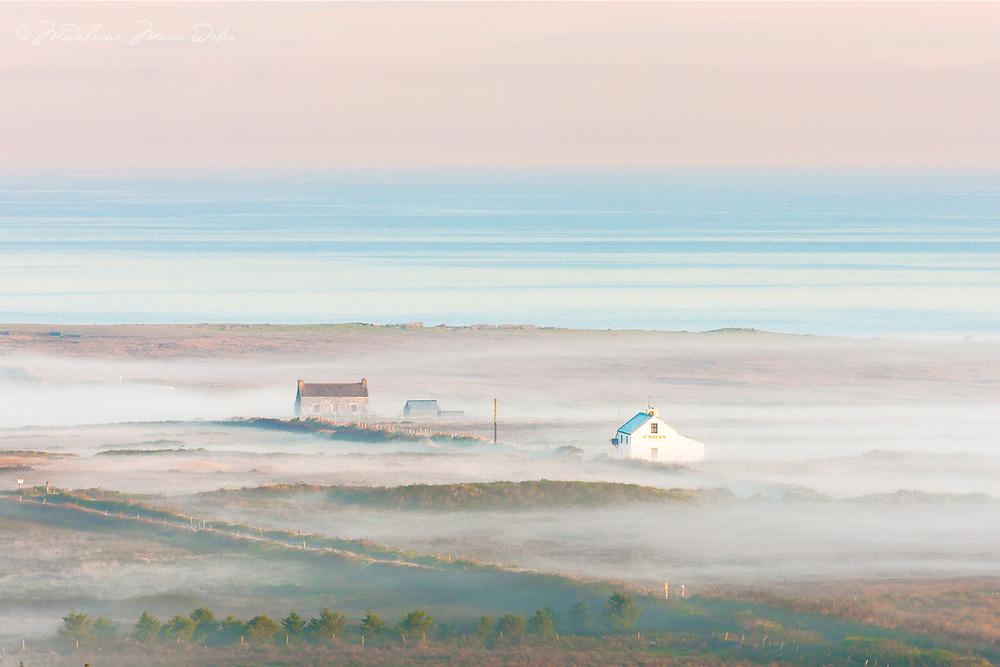 "Misty Sunrise over Valentia Island along the Skellig Coast and Wild Atlantic Way, County Kerry, Ireland.  ""Next Pint - New York"""