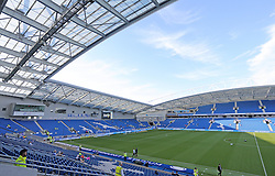 A view of the American Express Community Stadium ahead of the match - Mandatory byline: Paul Terry/JMP - 07966386802 - 07/08/2015 - FOOTBALL - Falmer Stadium -Brighton,England - Brighton v Nottingham Forest - Sky Bet Championship
