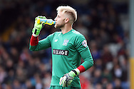 Bury Goalkeeper Robert Lainton take a drink during play. Skybet football league one match , Bury v Wigan Athletic at the JD Stadium in Bury, Lancs on Saturday 10th October 2015.<br /> pic by Chris Stading, Andrew Orchard sports photography.