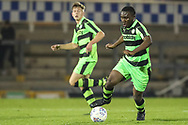 Forest Green Rovers Chris Pindi(16) runs forward during the The FA Youth Cup match between Bristol Rovers and Forest Green Rovers at the Memorial Stadium, Bristol, England on 2 November 2017. Photo by Shane Healey.