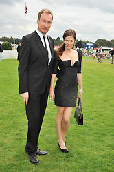 ANNA FRIEL and DAVID THEWLIS at the 25th annual Cartier International Polo held at Guards Polo Club, Great Windsor Park, Berkshire on 26th July 2009.