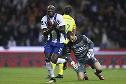 October 21, 2017 - Porto, Porto, Portugal - Porto's Malian forward Moussa Marega celebrates after scoring goal during the Premier League 2017/18 match between FC Porto and FC Pacos de Ferreira, at Dragao Stadium in Porto on October 21, 2017. (Credit Image: © Dpi/NurPhoto via ZUMA Press)
