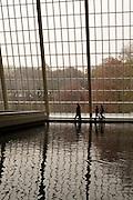 The pool at the Temple of Dendur at the Metropolitan Museum of Art.