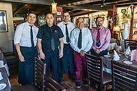 Pepe and staff at Restaurante Playa Bella, Estepona, Spain, 16th February 2020, 202002162226<br />
