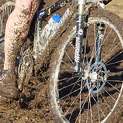 A mud covered competitor during the thrills and spills of the New Zealand Cyclocross Championships sponsored by AJ Hackett Bungy, held at Jardine Park,  Queenstown, as part of the Queenstown WInter Festival. The men's event was won by Dan Warren from Hastings while Anja McDonald from Dunedin won the women's event. Queenstown, New Zealand, 2nd July 2011