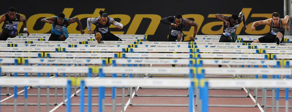 110m hurdles men <br /> Roma 03-06-2016 Stadio Olimpico <br /> IAAF Diamond League Golden Gala <br /> Atletica Leggera<br /> Foto Andrea Staccioli / Insidefoto
