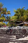 Aloha sign, Hookena, Island of Hawaii