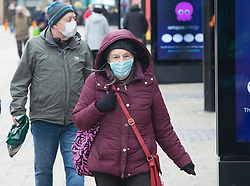 © Licensed to London News Pictures 17/03/2021. Bexleyheath, UK. People out and about shopping in Bexleyheath, South East London today are wearing masks to protect themselves during a third national coronavirus lockdown. Everyone over the age of fifty is now eligible for a Covid vaccine in the UK. Photo credit:Grant Falvey/LNP