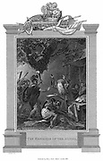 Druids in England massacred by Romans c50 AD. Druids were priests, teachers and judges of Celtic peoples. Engraving c1820