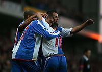 Fotball<br /> Premier League England 2004/2005<br /> Foto: SBI/Digitalsport<br /> NORWAY ONLY<br /> <br /> 30.10.2004<br /> Blackburn Rovers v Liverpool<br /> <br /> Blackburn's Jay Bothroyd (L) celebrates scoring the equalising goal for his team.
