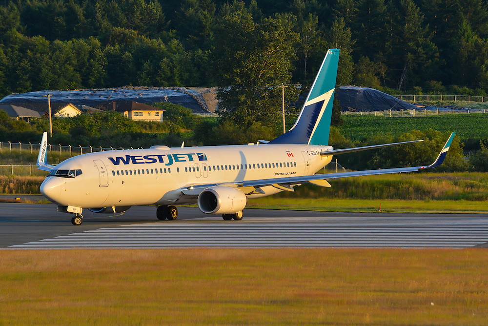 Westjet Boeing 737-800 C-GWSX taxis for take-off