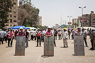 Muslim Brotherhood sit-ins have organised their own checkpoints, and defences against possible attack by anti-government protestors or the military.