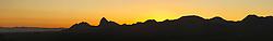Sunrise on Elephant Tusk and Chisos Mountains, Big Bend National Park, Texas, USA.