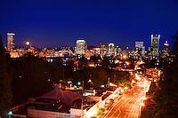 Portland Skyline @ Moonrise