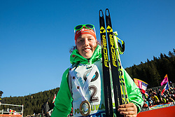 Laura Dahlmeier (GER) at medal ceremony after the Women 10 km Pursuit at day 3 of IBU Biathlon World Cup 2015/16 Pokljuka, on December 19, 2015 in Rudno polje, Pokljuka, Slovenia. Photo by Vid Ponikvar / Sportida