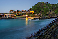 Storms River Restaurant at dawn, Tsitsikamma Marine Protected Area, Garden Route National Park, Eastern Cape, South Africa,