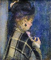 France, Paris (75), zone classée Patrimoine Mondial de l'UNESCO, Musée d'Orsay, jeune femme à la voilette, Pierre Auguste Renoir // France, Paris, Orsay museum, jeune femme à la voilette, Pierre Auguste Renoir