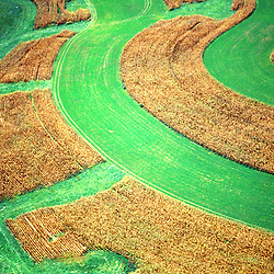 Aerial view of Farms in lancaster, pa