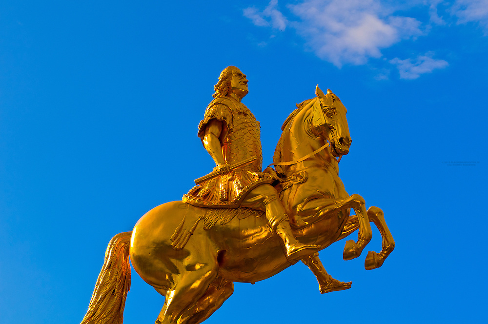 """""""The Golden Rider"""" statue (August the Strong), Dresden, Saxony, Germany"""