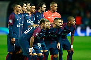 Paris Saint Germain's Brazilian forward Neymar Jr poses with teammates before the UEFA Champions League, Group B football match between Paris Saint-Germain and Bayern Munich on September 27, 2017 at the Parc des Princes stadium in Paris, France - Photo Benjamin Cremel / ProSportsImages / DPPI