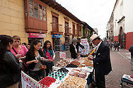 One of the many open-air markets of downtown Bogota