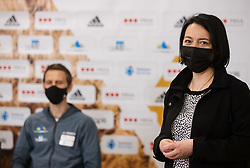 Natasa Hajdinjak of Zavarovalnica Prva at press conference of Slovenian National Climbing team before new season, on March 23, 2021 in Bolder Scena, Ljubljana, Slovenia. Photo by Vid Ponikvar / Sportida